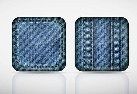 jeans texture: Denim application icons  texture jeans