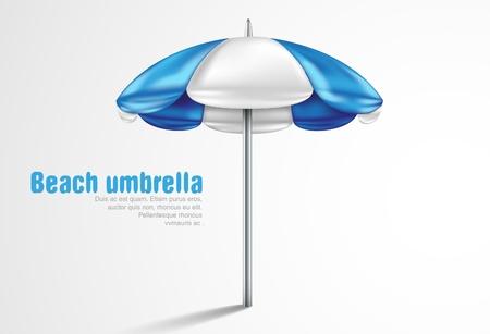 beach umbrella on a white background Vector