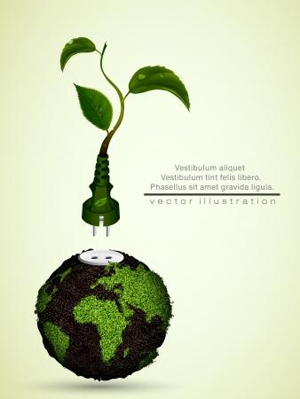 összpontosított: zöld dugó levelek és a bolygó fogalmát tiszta energia