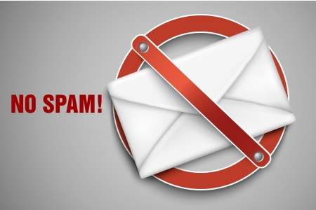 filing tray: Vector icons stop spam