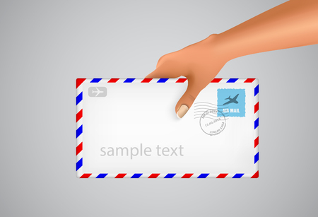 hand holds the envelope Stock Vector - 22206635