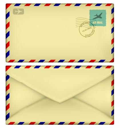 old postal envelope Stock Vector - 22206636