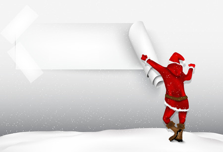 Santa Claus with a sign for text Stock Vector - 22206645