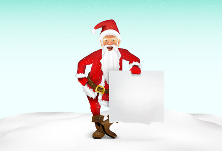 Santa Claus with a sign for text Stock Vector - 22206646