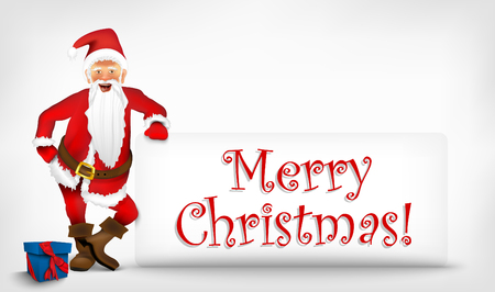Santa Claus with a sign for text Stock Vector - 22206689
