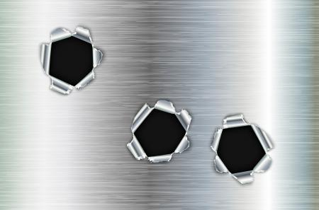 rapid fire: Bullet holes in metal