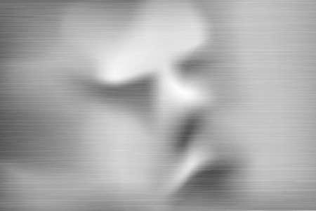 gezicht in de metaal