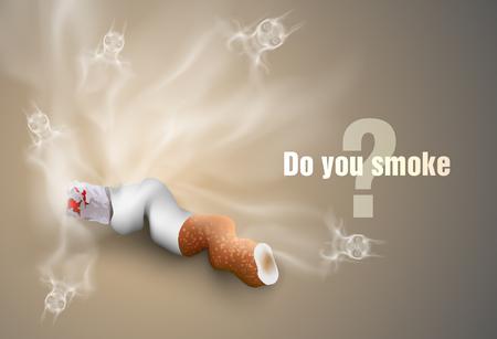 smoldering: Il concetto di mozziconi di sigarette anti-fumo e il fumo
