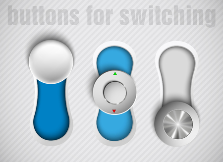Set of vector buttons switch Stock Vector - 23647561