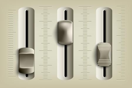 Faders de la console de mixage Banque d'images - 23862962