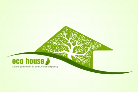 rural community: ecological house  concept of ecology