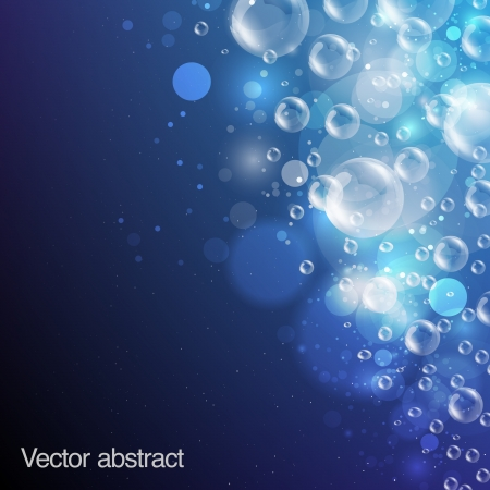 water drops: abstract background bubbles Illustration