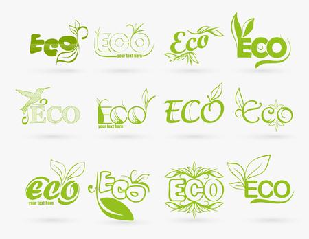 antipollution: conjunto de iconos de eco