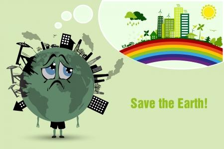 Schützen Sie die Erde Umweltverschmutzung