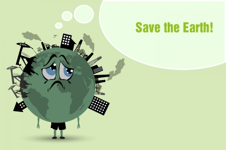 Conserve the earth  environmental pollution Stock Vector - 24876904