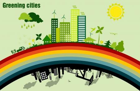 desechos toxicos: Sustentabilidad ambiental de las ciudades concepto de ecología