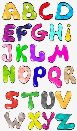 bubble gum: shiny, color, creative font