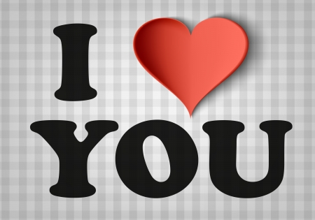 i love you sign: I love you sign with heart