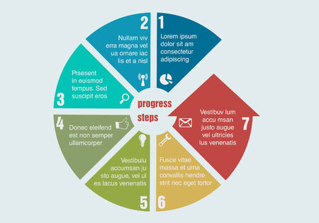 Circular progress steps