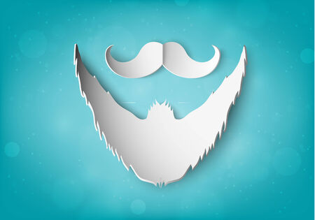 restyled: paper mustache and beard Illustration