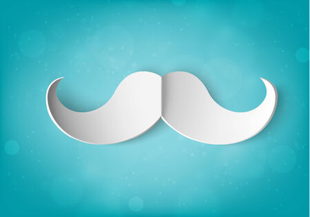 paper mustache Illustration
