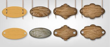 houten borden  Stock Illustratie