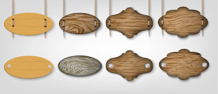 wooden post: wooden signs Illustration