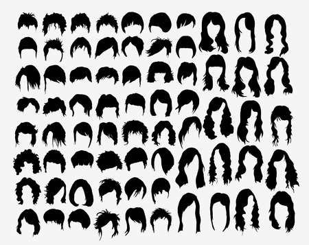 vector set of women s hairstyles Vector