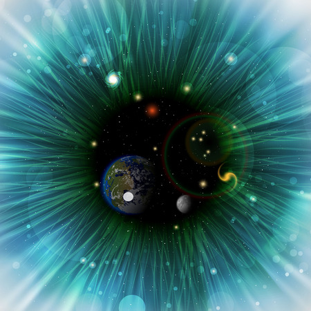 Universe in the human eye Illustration