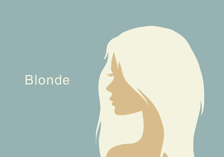 The blonde with beautiful hair Vector
