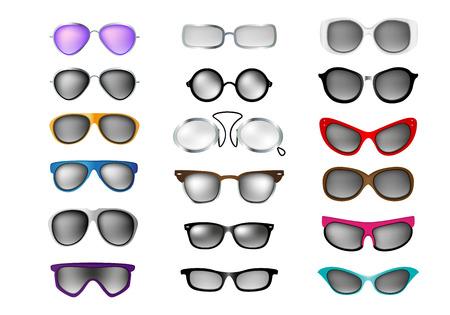 wayfarer: glasses vector set isolated white background Illustration