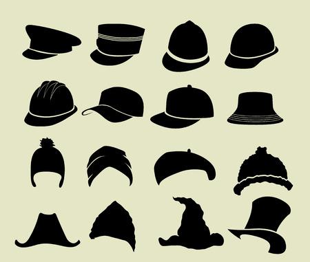 Set of hats Illustration
