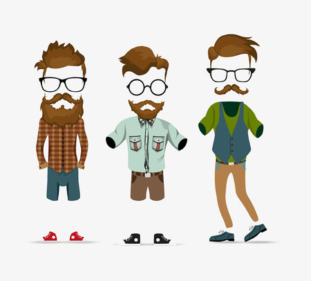 hipster info graphic background hipster elements Illustration