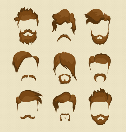 haircut: mustache, beard and hairstyle hipster