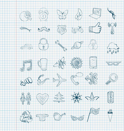 set of vector icons sketch Vector