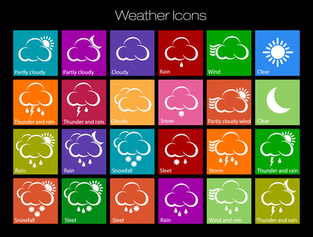 fortune telling: Weather Icons Illustration