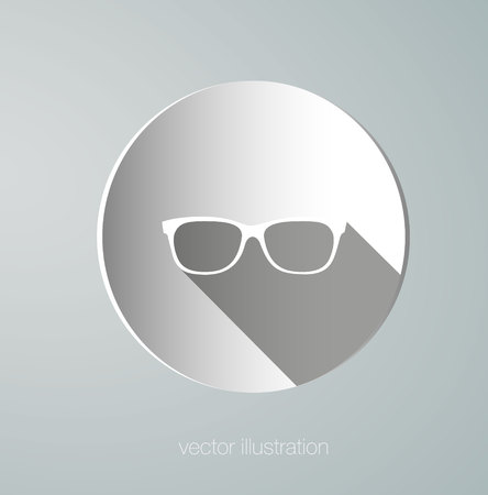 eye shade: vector icon paper glasses