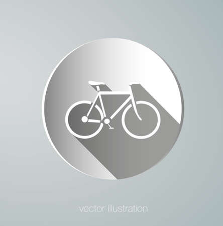 muscular build: vector paper icon bicycle