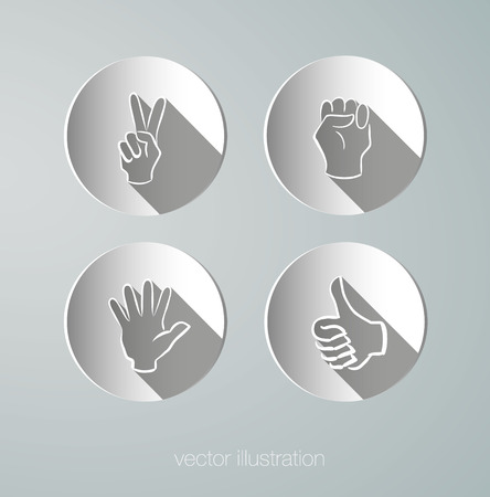 grip: vector paper icons hands Illustration