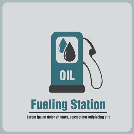 gas gauge: icon fueling Illustration