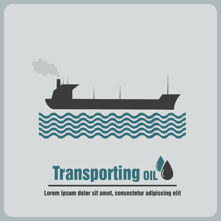 barge: icon oil barge