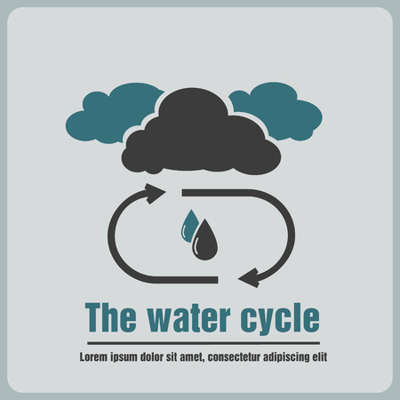 water cycle: icon the water cycle Illustration
