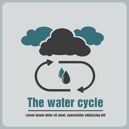 ciclo del agua: icono del ciclo del agua Vectores