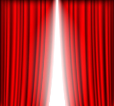 curtain background: Red curtain with a bright light