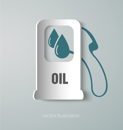 icon gas station paper Vector