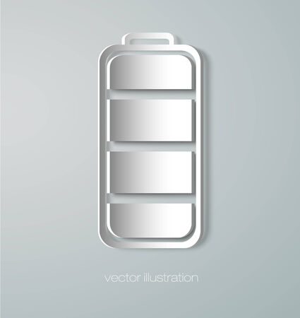 Paper battery icon Vector