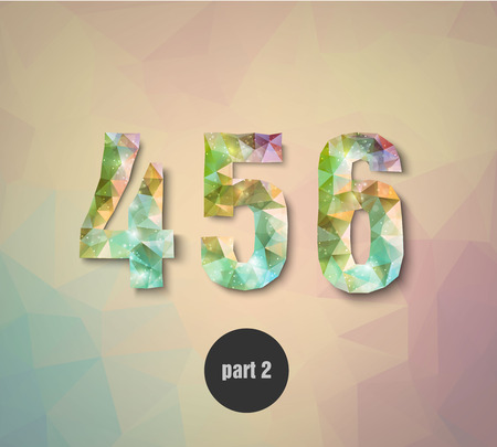 numbers abstract: triangular crystal numbers abstract colored part 2