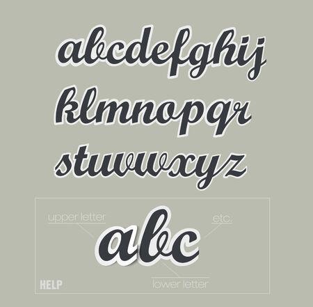 uppercase: vector paper uppercase alphabet with shadows