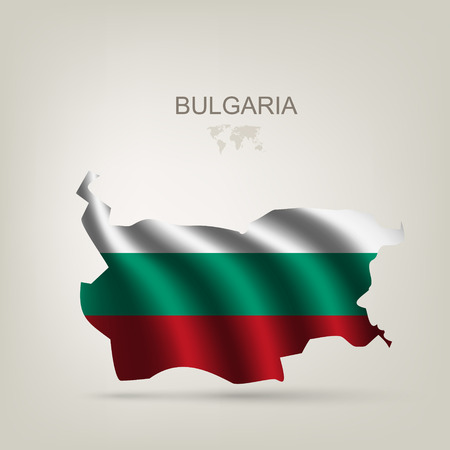 bulgaria flag: Flag of Bulgaria as a country with a shadow