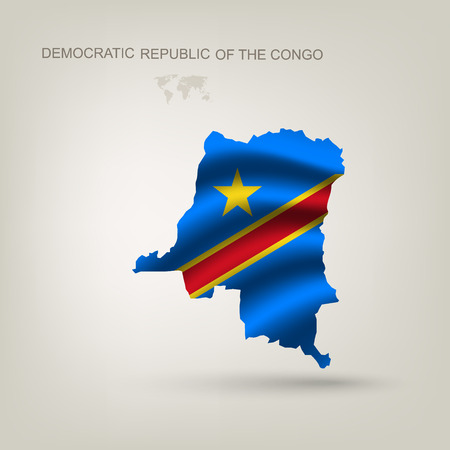 republic of the congo: Flag of the Republic of the Congo as a country with a shadow